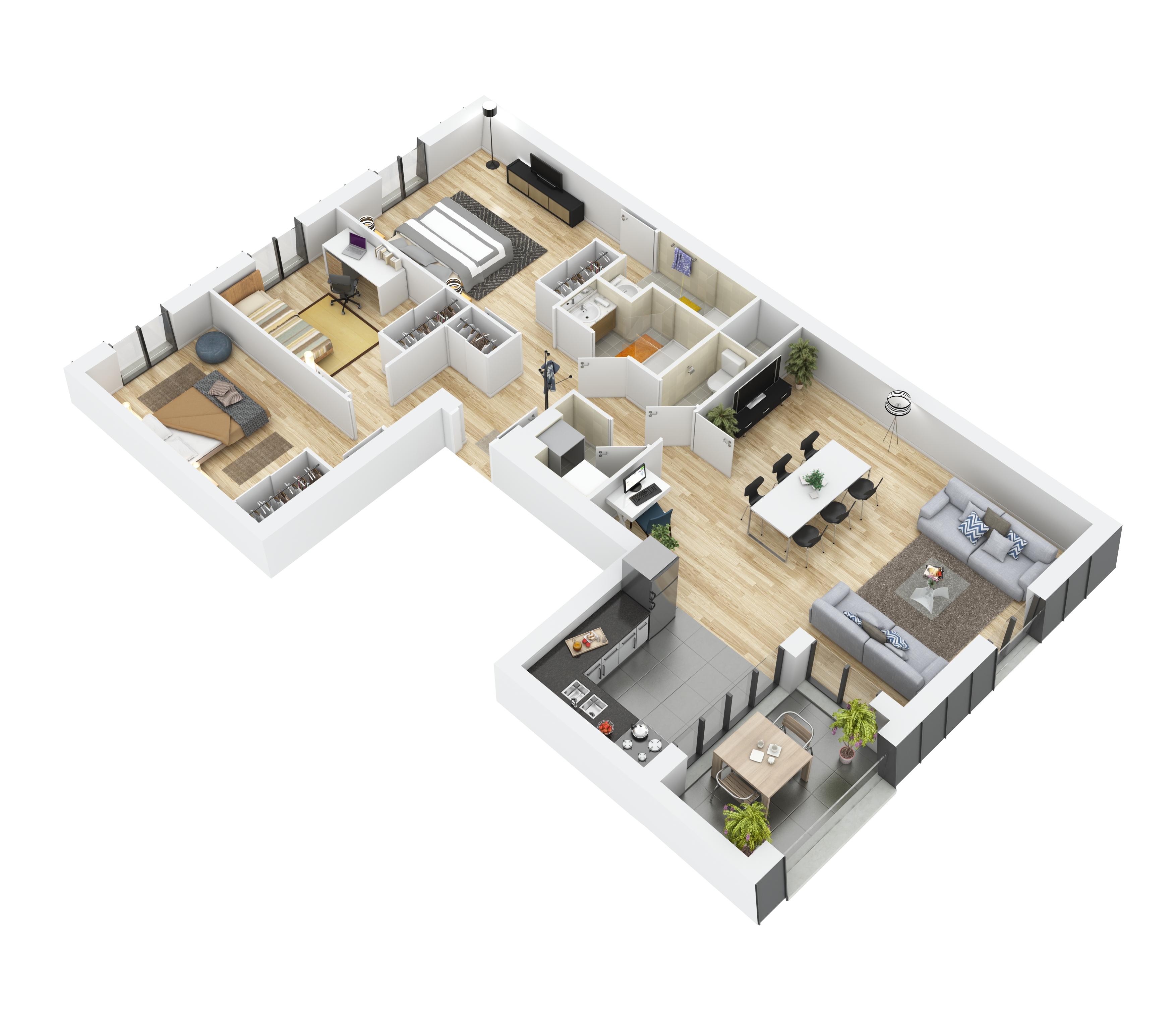 Plan 3D Courlnacy